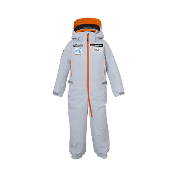 TREASURE KIDS ONE PIECE SNOWSUIT - GREY/PATCHES