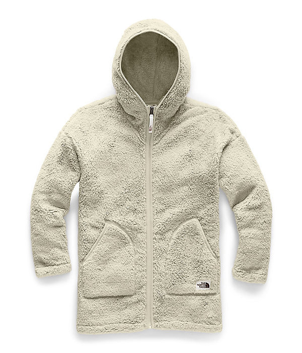 THE NORTH FACE JUNIOR GIRLS CAMPSHIRE HOODY LONG - VINTAGE WHITE - SIZE LARGE 14/16 ONLY