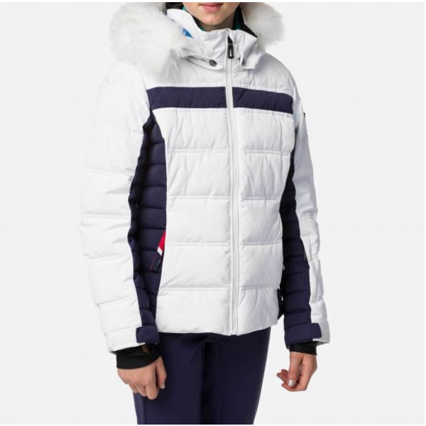JUNIOR GIRLS HIVER POLYDOWN JACKET - WHITE - SIZE 8 ONLY