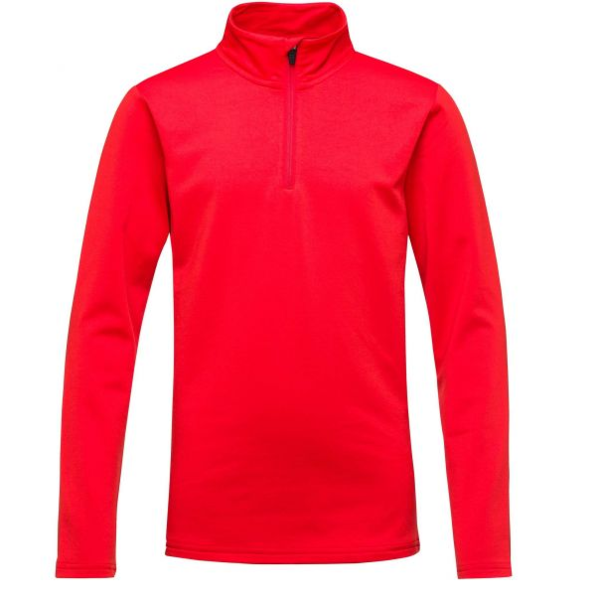 JUNIOR BOYS 1/2 ZIP WARM STRETCH - CRIMSON