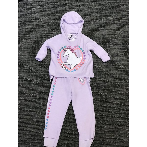 PRESCHOOL GIRLS UNICORN 2PC SET