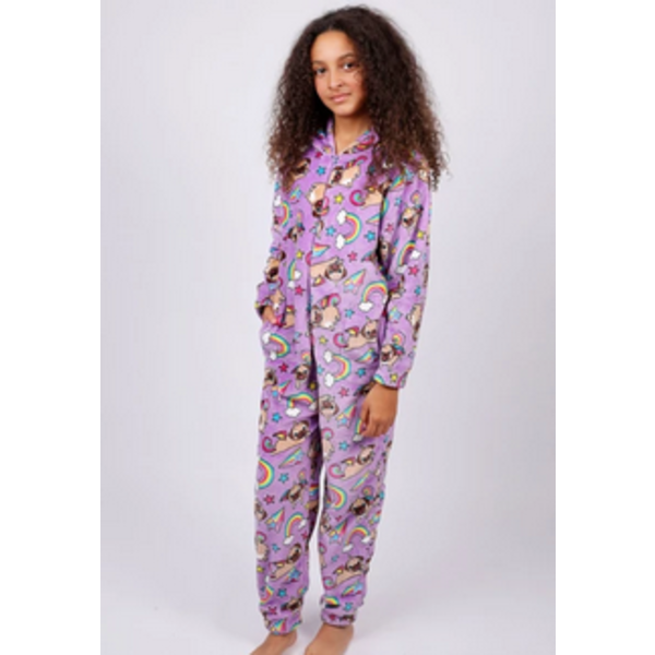 JUNIOR GIRLS PUGICORN ONESIE - SIZE LARGE 14/16 ONLY