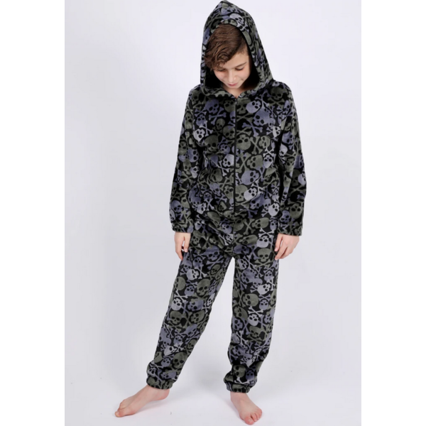 JUNIOR BOYS SKULL ONESIE