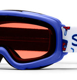 SMITH GAMBLER GOGGLES - BLUE SHOWTIME WITH RC36 LENS - SIZE YOUTH SMALL/MEDIUM