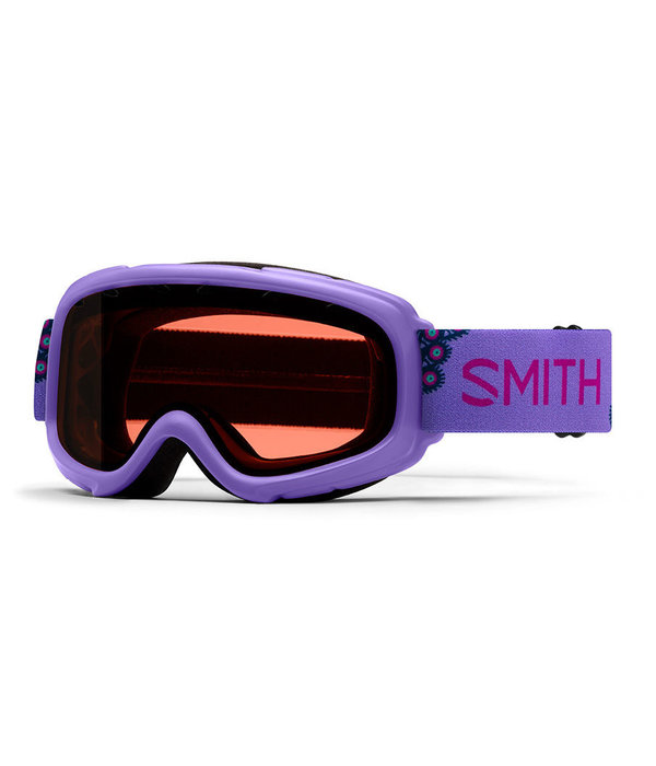 SMITH GAMBLER GOGGLES - PURPLE PEACOCKS WITH RC36 LENS - SIZE YOUTH SMALL/MEDIUM