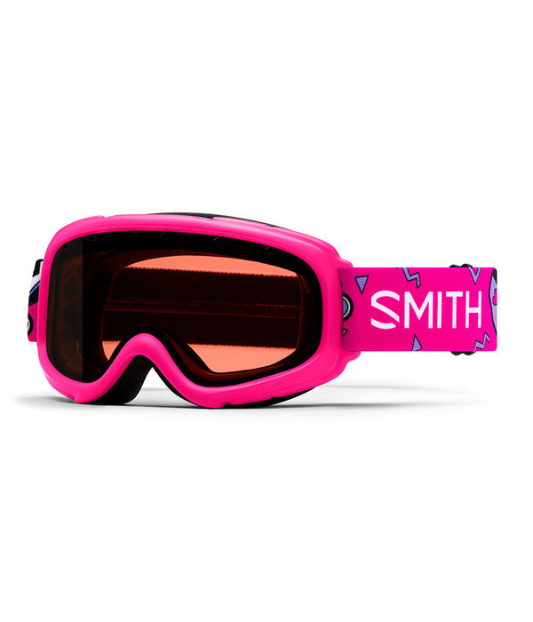 SMITH GAMBLER GOGGLES - PINK SKATES WITH RC36 LENS - SIZE YOUTH SMALL/MEDIUM
