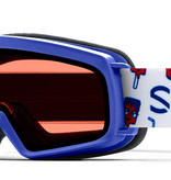 SMITH RASCAL GOGGLES - BLUE SHOWTIME WITH RC36 LENS - SIZE YOUTH SMALL