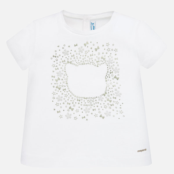 INFANT GIRLS SHORT SLEEVED T-SHIRT WITH LACE