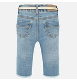 MAYORAL INFANT GIRLS DENIM PANTS - BLEACHED - SIZE 6 MONTHS ONLY