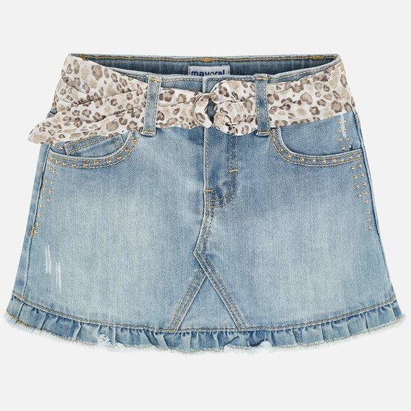 PRESCHOOL GIRLS DENIM SKIRT - BLEACHED - SIZE 3 ONLY