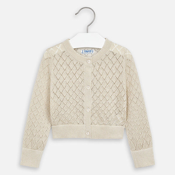 PRESCHOOL GIRLS LONG SLEEVED CARDIGAN - SAND