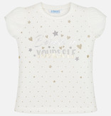 MAYORAL PRESCHOOL GIRLS BELIEVE IN YOURSELF T-SHIRT - NATURAL - SIZE 5 ONLY