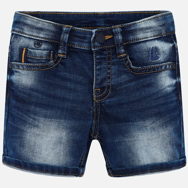 PRESCHOOL BOYS DENIM BERMUDA SHORTS - BASIC