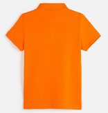 MAYORAL JUNIOR BOYS SHORT SLEEVED POLO SHIRT - TANGERINE - SIZE 10 ONLY