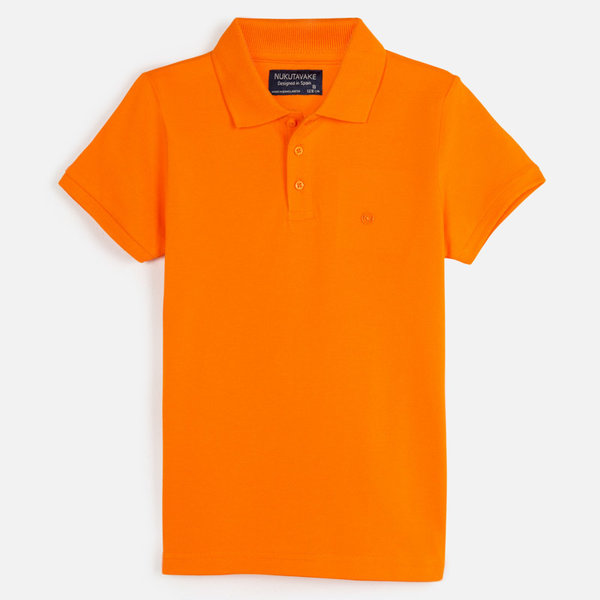 JUNIOR BOYS SHORT SLEEVED POLO SHIRT - TANGERINE - SIZE 10 ONLY