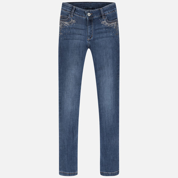 JUNIOR GIRLS SKINNY DENIM PANTS - DARK