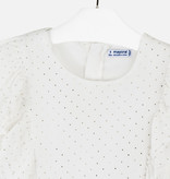 MAYORAL JUNIOR GIRLS BLOUSE - NATURAL - SIZE 14 ONLY