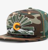 AKSELS COLORADO SUNSET TRUCKER HAT - CAMO