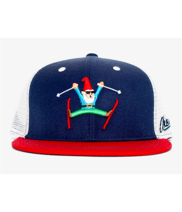 AKSELS ADULT GNOME SKIER TRUCKER HAT