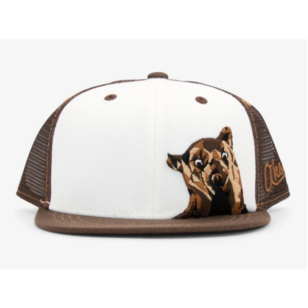 YOUTH BEAR TRUCKER HAT (AGES 2-12) - BROWN