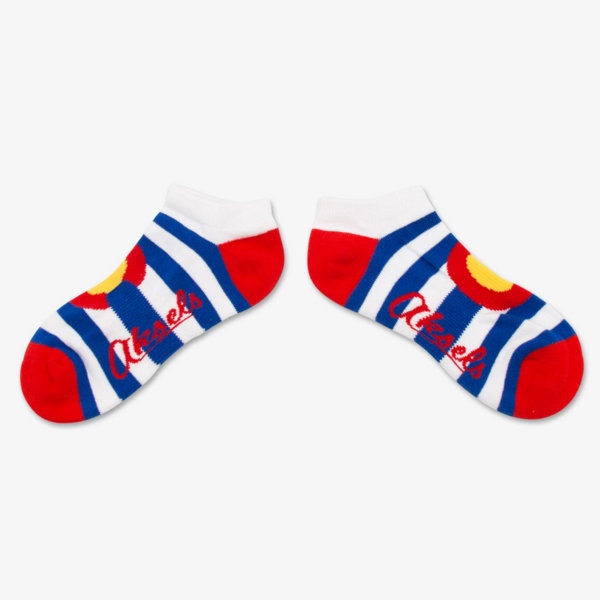 COLORADO STRIPE ADULT ANKLE SOCK - L/XL