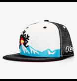 AKSELS COLORADO SNOWFLAKE TRUCKER HAT-WHITE
