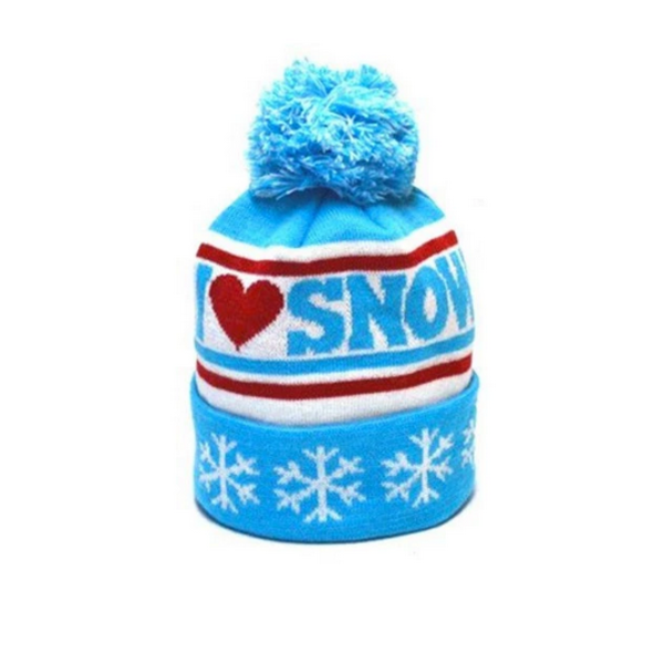 ADULT I HEART SNOW BEANIE