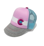 BABY LIL NUGGET BABY KIDS TRUCKER HAT - PINK/GREY - SIZE NB-6M