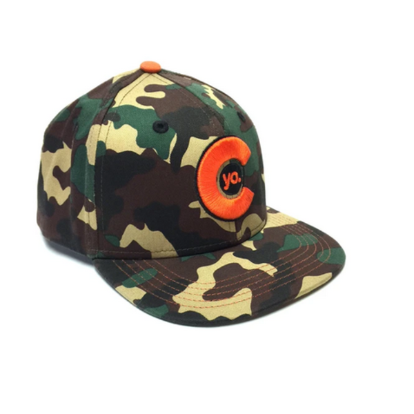 KIDS (3-7Y) CAMO FLAT BILL HAT