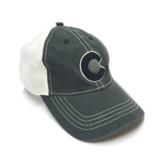 YOCO ADULT VINTAGE C MONOCHROMATIC HAT- BLACK/WHITE