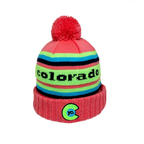 ADULT YO RETRO ROXY POM BEANIE