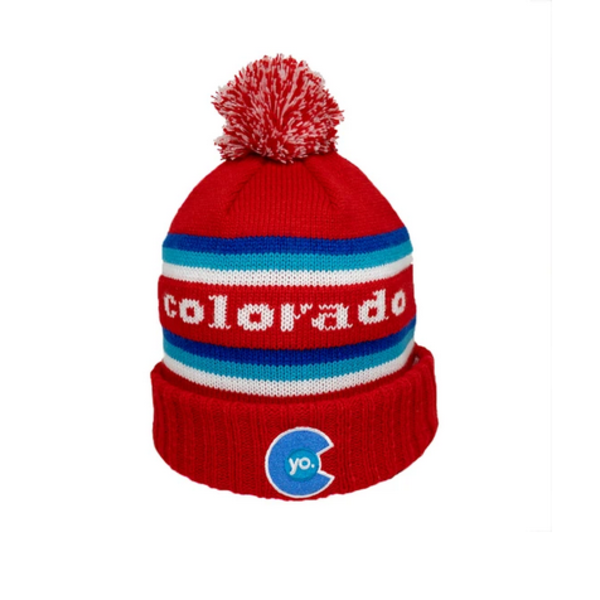 ADULT YO RETRO LIBERTY POM BEANIE