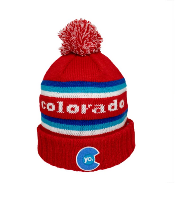 YOCO ADULT YO RETRO LIBERTY POM BEANIE