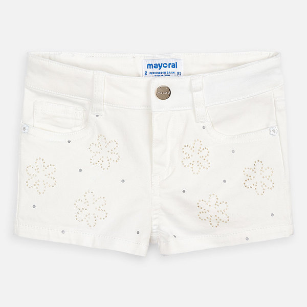 PRESCHOOL GIRLS SHORTS - NATURAL - SIZE 3 ONLY