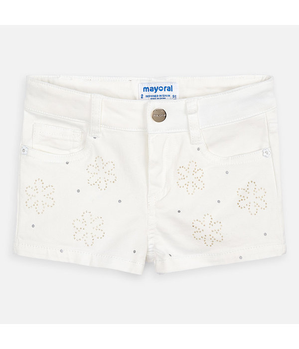 MAYORAL PRESCHOOL GIRLS SHORTS - NATURAL - SIZE 3 ONLY