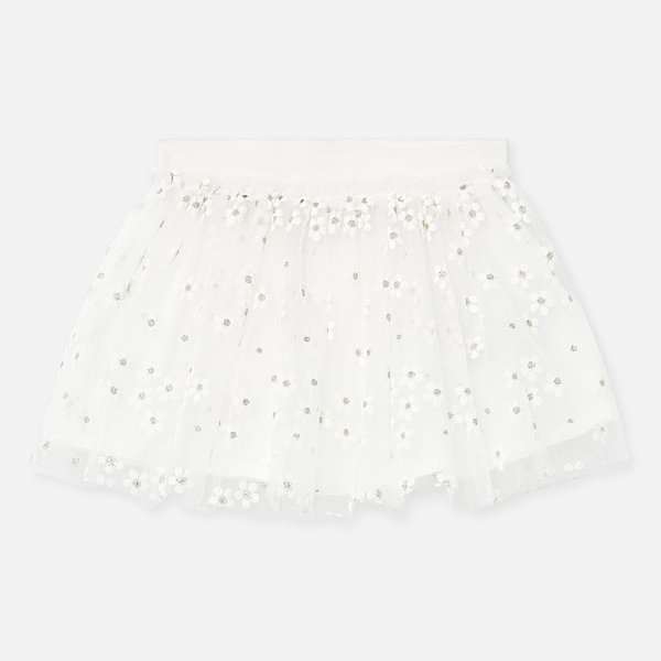 INFANT GIRLS TULLE SKIRT - NATURAL - SIZE 18 MONTHS