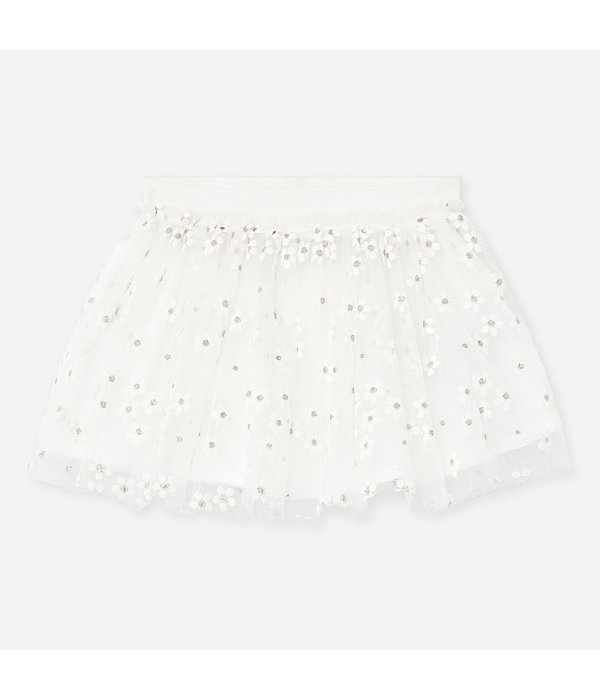 MAYORAL INFANT GIRLS TULLE SKIRT - NATURAL - SIZE 18 MONTHS