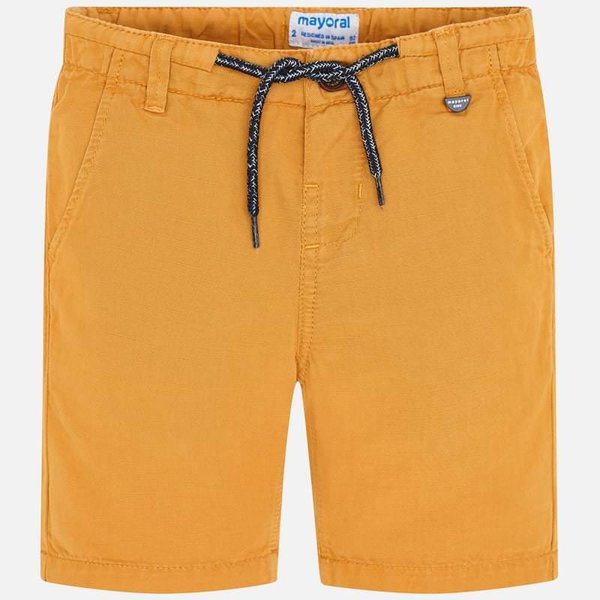 PRESCHOOL BOYS LINEN SHORTS - POLLEN