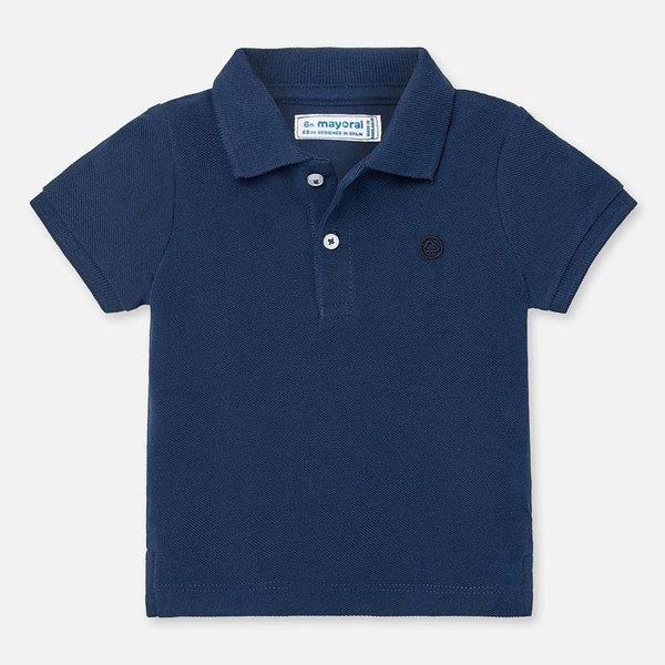 INFANT BOYS SHORT SLEEVED BASIC POLO - SAPPHIRE