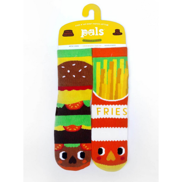 BURGER & FRIES SOCKS - 4-8 YEARS