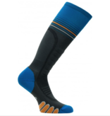 EUROSOCKS SILVER SUPREME SOCKS - CHARCOAL/BLUE