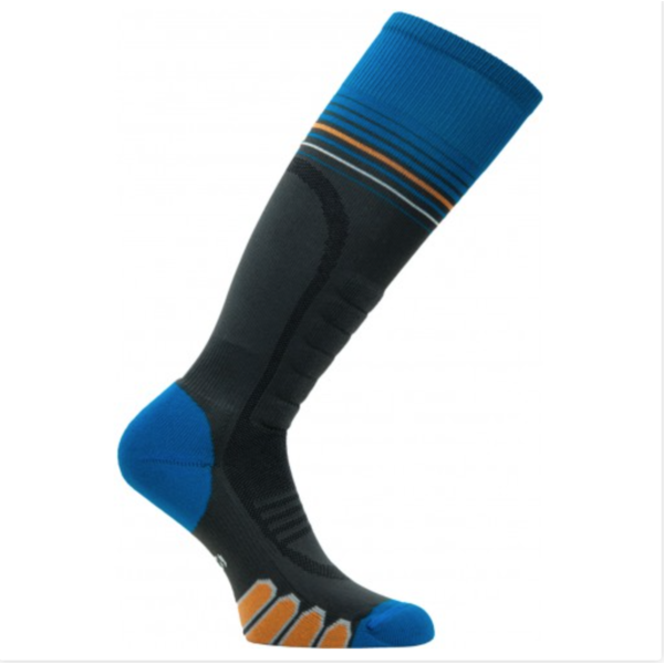 SILVER SUPREME SOCKS - CHARCOAL/BLUE
