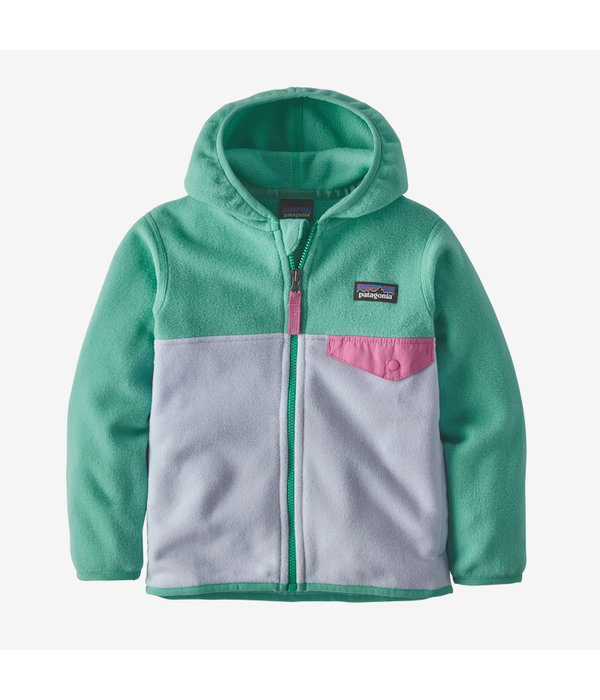 PATAGONIA INFANT BABY MICRO D SNAP-T JACKET - BELUGE