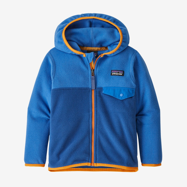 INFANT BABY MICRO D SNAP-T JACKET - SUPERIOR BLUE