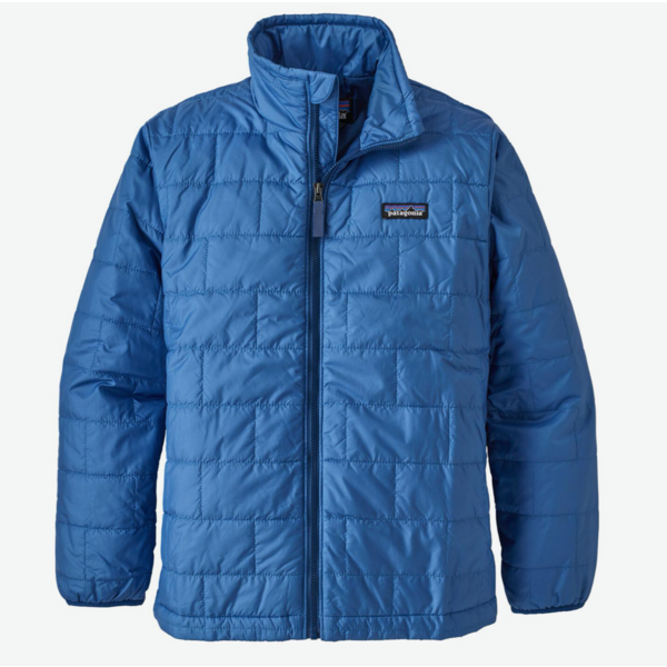 JUNIOR BOYS NANO PUFF JACKET - BAYOU BLUE
