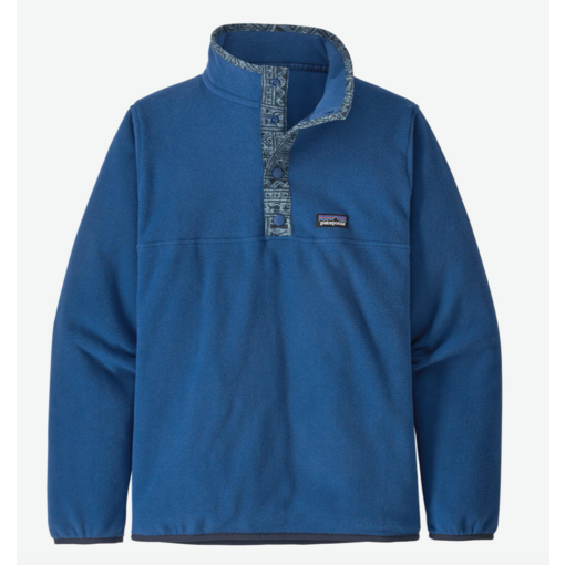 PATAGONIA JUNIOR BOYS MICRO D SNAP-T PULLOVER - SUPERIOR BLUE