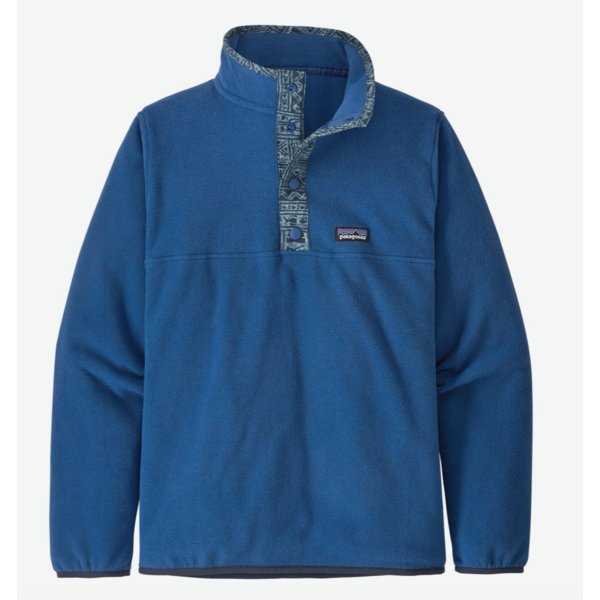 JUNIOR BOYS MICRO D SNAP-T PULLOVER - SUPERIOR BLUE
