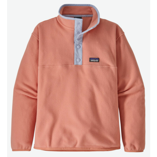 PATAGONIA JUNIOR GIRLS MICRO D SNAP-T PULLOVER - MELLOW MELON