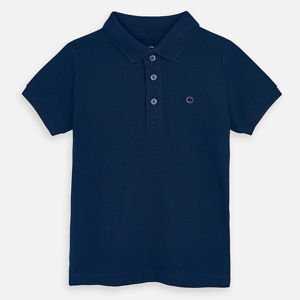 PRESCHOOL BOYS SHORT SLEEVED POLO SHIRT - NAVY - SIZE 6 ONLY