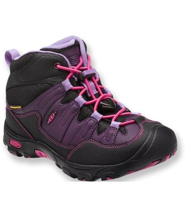KEEN PAGOSA WP MID BOOT YOUTH - BLACKBERRY - SIZE 6 ONLY